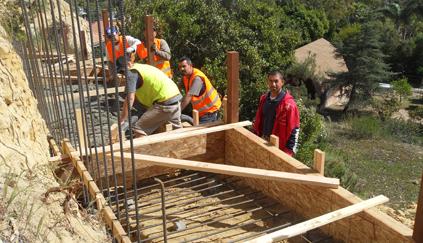 Encinitas Foundation for Retaining Wall