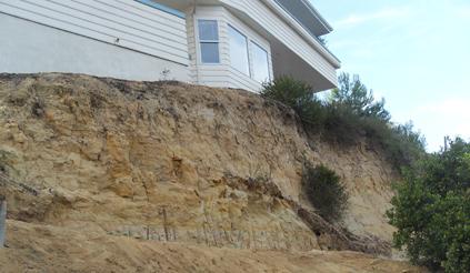 Encinitas Erosion House at Risk