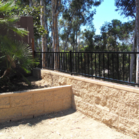 San Diego Retaining Wall After